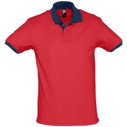 Oblačila Polo majice kratki rokavi Sols PRINCE COLORS Rojo