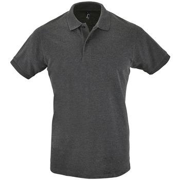 Oblačila Moški Polo majice kratki rokavi Sols PERFECT COLORS MEN Gris