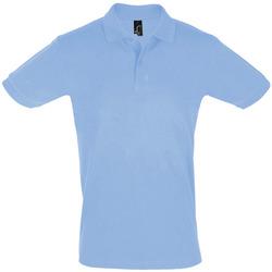 Oblačila Moški Polo majice kratki rokavi Sols PERFECT COLORS MEN Azul