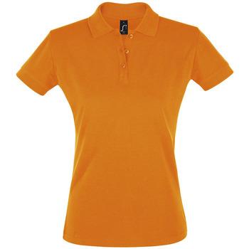 Oblačila Ženske Polo majice kratki rokavi Sols PERFECT COLORS WOMEN Naranja