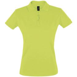 Oblačila Ženske Polo majice kratki rokavi Sols PERFECT COLORS WOMEN Verde