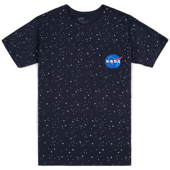 Oblačila Moški Majice s kratkimi rokavi Alpha T-shirt  Starry T noir/bleu/blanc
