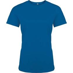 Oblačila Ženske Majice s kratkimi rokavi Proact T-Shirt femme manches courtes  Sport bleu marine