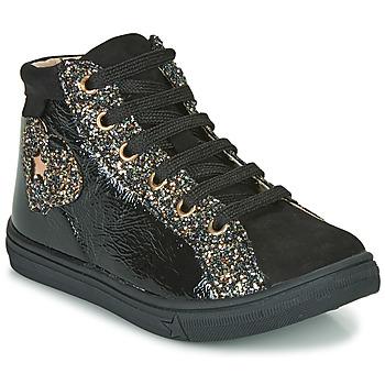 Čevlji  Deklice Visoke superge GBB MARTA Črna