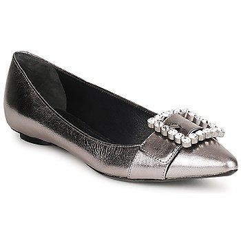 Čevlji  Ženske Balerinke Marc Jacobs MJ19417 Srebrna