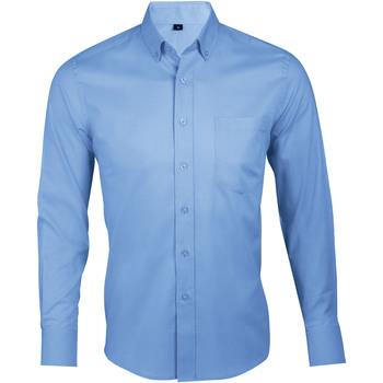 Oblačila Moški Srajce z dolgimi rokavi Sols BUSINESS MEN Azul