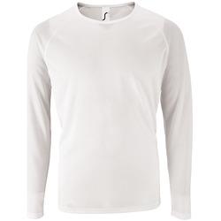Oblačila Moški Majice z dolgimi rokavi Sols SPORT LSL MEN Blanco