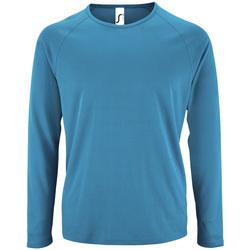 Oblačila Moški Majice z dolgimi rokavi Sols SPORT LSL MEN Azul