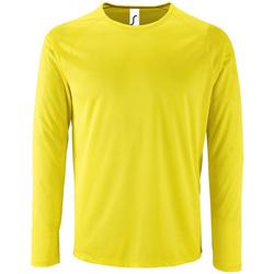 Oblačila Moški Majice z dolgimi rokavi Sols SPORT LSL MEN Amarillo