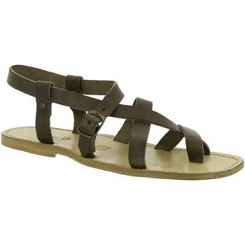 Čevlji  Ženske Sandali & Odprti čevlji Gianluca - L'artigiano Del Cuoio 530 U FANGO CUOIO Fango