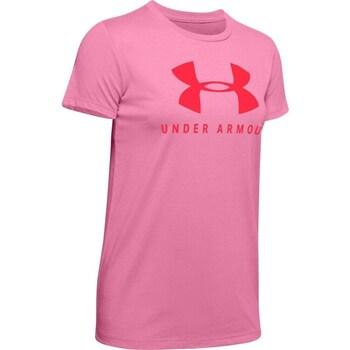 Oblačila Ženske Majice s kratkimi rokavi Under Armour Graphic Sportstyle Classic Crew Roza