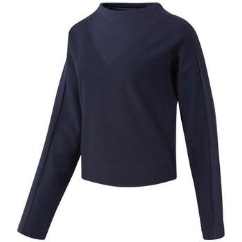 Oblačila Ženske Puloverji Reebok Sport TE Twill Cowl Neck Mornarsko modra
