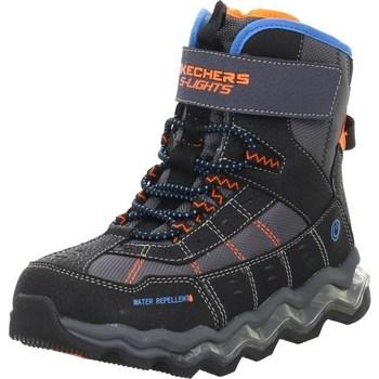 Čevlji  Otroci Pohodništvo Skechers Kinderstiefel Polar Rush Črna,Oranžna