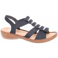 Čevlji  Ženske Sandali & Odprti čevlji Rieker 6285014 Črna, Rjava