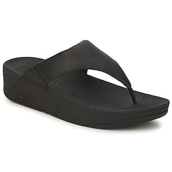Čevlji  Ženske Japonke FitFlop LULU LEATHER Črna