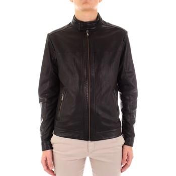Oblačila Moški Usnjene jakne & Sintetične jakne Yes Zee J516-JA00 Nero