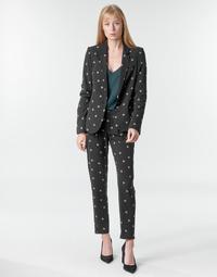 Oblačila Ženske Lahkotne hlače & Harem hlače Ikks BR22125 Črna