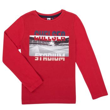 Oblačila Dečki Majice z dolgimi rokavi 3 Pommes 3R10015-37-C Rdeča