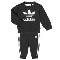 Oblačila Otroci Otroški kompleti adidas Originals CREW SET Črna