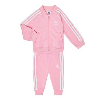 Oblačila Deklice Otroški kompleti adidas Originals SST TRACKSUIT Rožnata