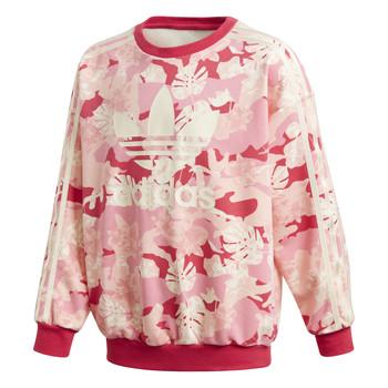 Oblačila Deklice Puloverji adidas Originals CREW Rožnata