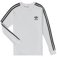 Oblačila Dečki Majice z dolgimi rokavi adidas Originals 3STRIPES LS Bela
