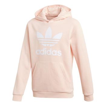 Oblačila Deklice Puloverji adidas Originals TREFOIL HOODIE Rožnata