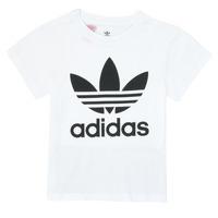 Oblačila Otroci Majice s kratkimi rokavi adidas Originals TREFOIL TEE Bela