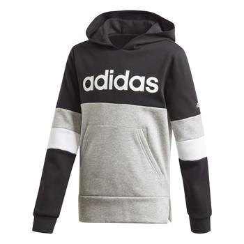 Oblačila Dečki Puloverji adidas Performance YB LIN CB HD FL Črna / Siva