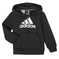 Oblačila Dečki Puloverji adidas Performance B MH BOS FZ FL Črna