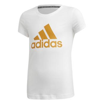 Oblačila Deklice Majice s kratkimi rokavi adidas Performance YG MH BOS TEE Bela