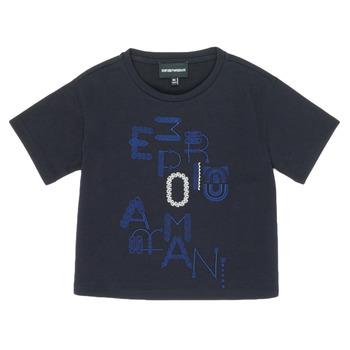 Oblačila Deklice Majice s kratkimi rokavi Emporio Armani 6H3T7R-2J4CZ-0926 Modra