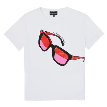 Oblačila Deklice Majice s kratkimi rokavi Emporio Armani 6H3T7T-3J2IZ-0100 Bela