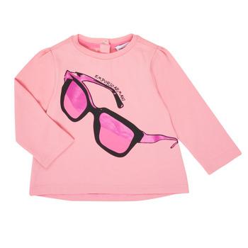 Oblačila Deklice Majice z dolgimi rokavi Emporio Armani 6HET02-3J2IZ-0315 Rožnata