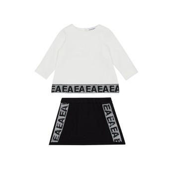 Oblačila Deklice Otroški kompleti Emporio Armani 6HEV08-3J3PZ-0101 Bela / Črna