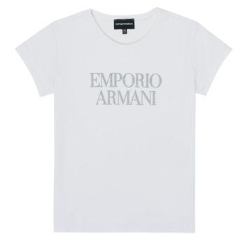 Oblačila Deklice Majice s kratkimi rokavi Emporio Armani 8N3T03-3J08Z-0100 Bela