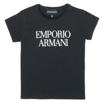 Oblačila Deklice Majice s kratkimi rokavi Emporio Armani 8N3T03-3J08Z-0999 Črna