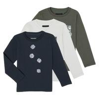 Oblačila Dečki Majice z dolgimi rokavi Emporio Armani 6H4D01-4J09Z-0564 Večbarvna