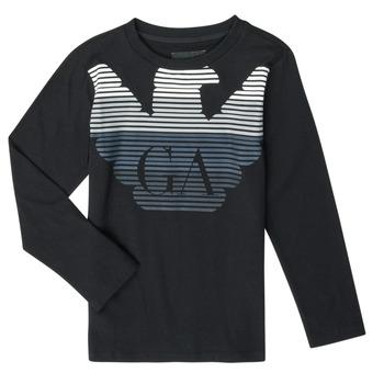 Oblačila Dečki Majice z dolgimi rokavi Emporio Armani 6H4T17-1J00Z-0999 Črna