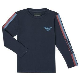 Oblačila Dečki Majice z dolgimi rokavi Emporio Armani 6H4TJD-1J00Z-0920 Modra