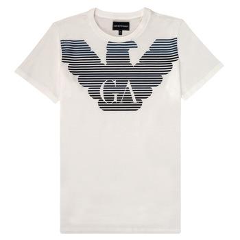 Oblačila Dečki Majice s kratkimi rokavi Emporio Armani 6H4TQ7-1J00Z-0101 Bela