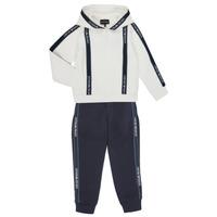 Oblačila Dečki Trenirka komplet Emporio Armani 6H4V02-1JDSZ-0101 Bela