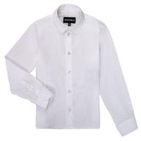 Oblačila Dečki Srajce z dolgimi rokavi Emporio Armani 8N4CJ0-1N06Z-0100 Bela