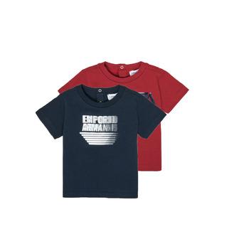 Oblačila Dečki Majice s kratkimi rokavi Emporio Armani 6HHD22-4J09Z-0353 Večbarvna
