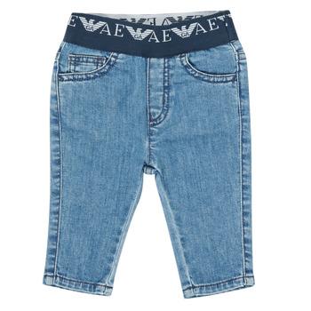 Oblačila Dečki Kavbojke slim Emporio Armani 6HHJ07-4D29Z-0942 Modra