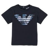 Oblačila Dečki Majice s kratkimi rokavi Emporio Armani 6HHTA9-1JDXZ-0920 Modra