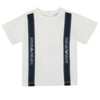 Oblačila Dečki Majice s kratkimi rokavi Emporio Armani 6HHTG4-1JTUZ-0101 Bela