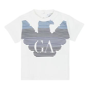Oblačila Dečki Majice s kratkimi rokavi Emporio Armani 6HHTQ7-1J00Z-0101 Bela