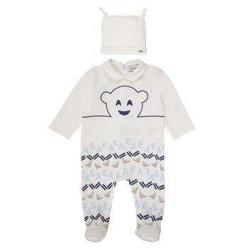 Oblačila Dečki Pižame & Spalne srajce Emporio Armani 6HHV08-4J3IZ-0101 Bela / Modra