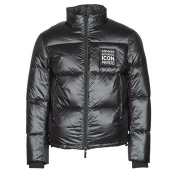 Oblačila Moški Puhovke Armani Exchange 8NZBP2 Črna